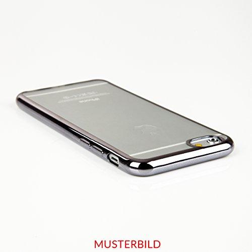 """Silikon TPU Chrom Case Schutz Hülle für iPhone 6 /6s Plus 5.5"""" Kupfer Metallic Handy Tasche transparentes Back Case mit buntem Rand Schutzhülle Crystal Gehäuserückseite Sparkles Bumper Gold"""