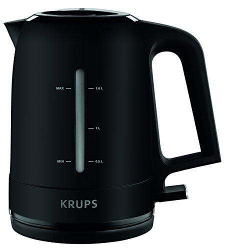 Krups BW2448 Wasserkocher Pro Aroma, 1,6 L, 2,400 W mit beleuchtetem Ein-/Ausschalter, schwarz