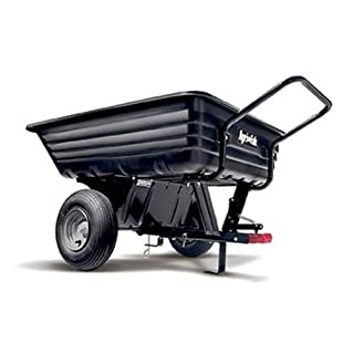 Agri-Fab AG45-0345 350lb Tow/Push Poly Tipping Cart - Black