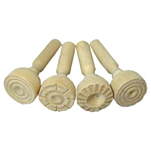 Wooden Paint & Clay Stampers (Pack of 4)