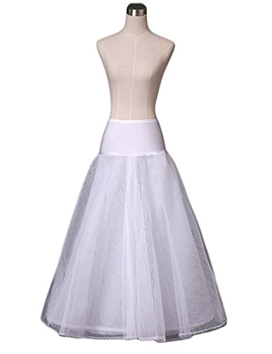 Women's Full Lenth Hoopless A-line Wedding Petticoat for sale  Delivered anywhere in UK