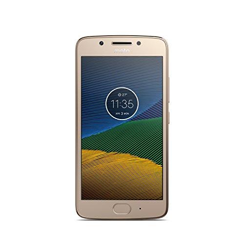 Motorola Moto G5 Smartphone Débloqué 4G (Ecran: 5 pouces - 16 Go - Nano-SIM - Android) Or