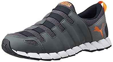 Puma Men's Osu v4 DP Dark Shadow-Silver-Grey Mesh Running Shoes - 11 UK /India(46EU)