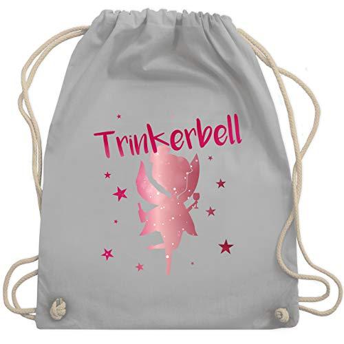 Karneval & Fasching - Trinkerbell Rot - Unisize - Hellgrau - WM110 - Turnbeutel & Gym Bag