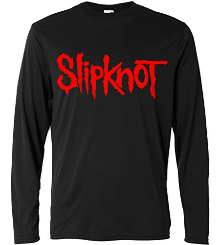 T-shirt a manica lunga Uomo - Slipknot - red print - Long Sleeve 100% cotone LaMAGLIERIA, XL, Nero
