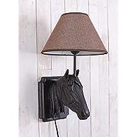 Tischlampe Pferd Tischleuchte Pferdekopf Nachttischlampe Lampe Leuchte 66cm