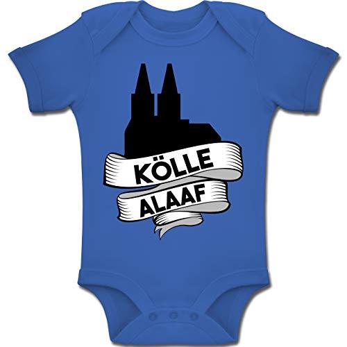 Shirtracer Karneval und Fasching Baby - Kölle Alaaf Dom - 6-12 Monate - Royalblau - BZ10 - Baby Body Kurzarm Jungen Mädchen