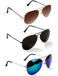 Sheomy Wayfarer Women's/Men's & Boy's/Girl's Combo Of Sunglasses With Tpu Band (55,Black)