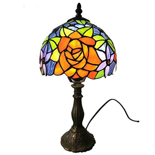 Y&HY Tiffany Stil handgemachte Tischlampe, europäischen Glas Lampenschirm Leselampen Cafe Bar Schreibtisch Lichter (8 Zoll)