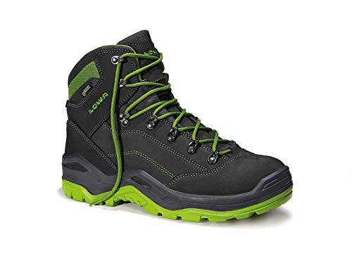 Lowa Renegade Work GTX Mid S3, Schuhgröße:42 (UK 8), Farbe:schwarz/grün