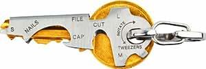 True Utility TU247 KeyTool Outil à fonction multiple en acier inoxydable pour porte-clés