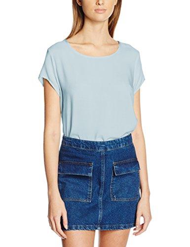 VERO MODA Damen Bluse Boca SS Blouse Noos, Blau (Cashmere Blue Cashmere Blue), 38 (Herstellergröße: M)