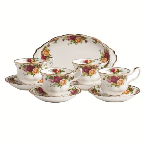 Royal Albert Old Country Roses 9-Piece Teaset Completer Set by Royal Doulton (Roses Royal)