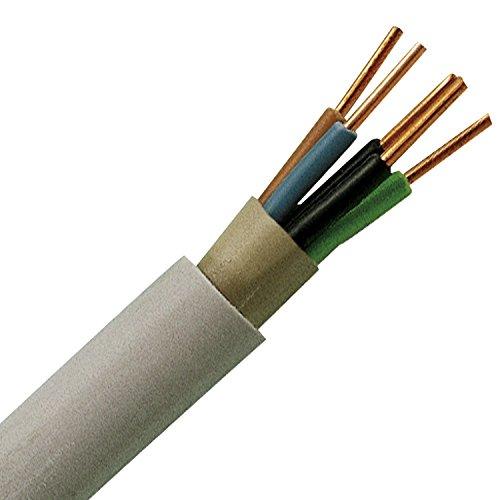 Oxedion® Installations-kabel NYM-J 5x 2,5mm² 25 meter Ring Mantel-leitung grau Elektro-Leitung