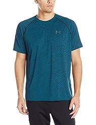 Under Armour Ua Tech Ss Tee Herren Fitness - T-shirts & Tanks, Grün (Peacock Green), Gr. XL