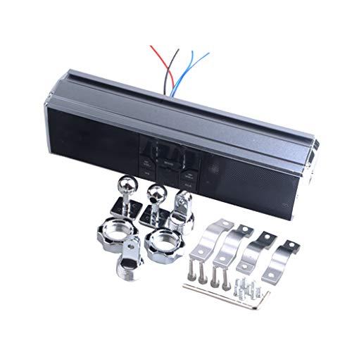 KESOTO Motorrad Audio Sound System Rahmen und Anbauteile Mit LED-Anzeige Standby-Modus Strom: 15 mA - metalisch grau