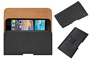 Acm Belt Holster Case For Gionee Pioneer P3s Cover Magnetic Closure Black
