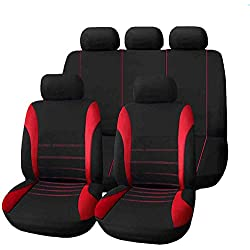 Housse de Siège Auto Universelle coussins pour Siège Voiture,auto Protecteur de siège, Couvre Siège voiture, Siège de housse de voiture (Rouge)