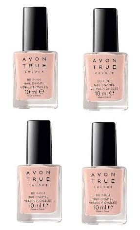 4Stück Avon True Farbe Nailwear Pro + Nagel Emaille-Pastell Pink X 10ml -