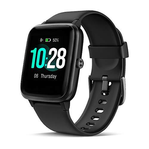 LATEC Smartwatch, Fitness Armband mit Pulsuhren 1,3 Zoll Touchscreen Fitness Uhr 5ATM Wasserdicht Fitness Tracker Sportuhr mit Schrittzähler Stoppuhr Smart Watch für Damen Herren für iOS Android Handy
