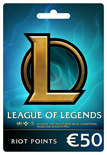 League of Legends €50 Prepaid Gift Card (7200 Riot Points) (Download Amazon Gift Card)