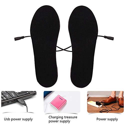 KEYkey climatizada Plantillas climatizada Calentador de pie Plantillas para Zapatos Cut-to-fit Varios tamaños Invierno Caza Pesca Senderismo Camping (40-44)