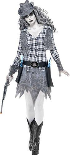ostüm Halloween Horror Damen Fancy Party Kleid (Halloween Cowgirl)