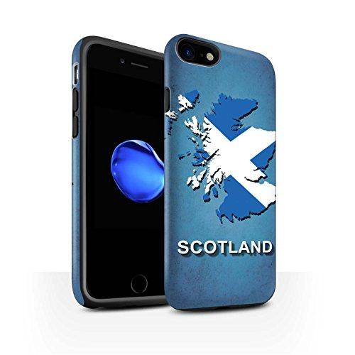 STUFF4 Matte Harten Stoßfest Hülle / Case für Apple iPhone 7 / Kroatien/Kroatische Muster / Flagge Land Kollektion Schottland/Scottish
