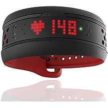 Brazalete Medisana MIO para pulsaciones y actividad del corazón, negra - roja