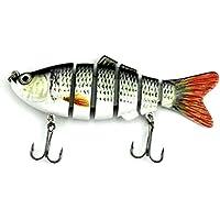 Lergo - Señuelo de Pesca, 6 segmentos, Gancho para Cebo de Pesca, 20 g, 10 cm