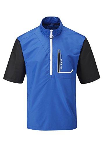 Stuburt Herren Windshirt Kurzarm Cyclone, Blau, S, SBTOP662 5055286233913 - Zip Kurzarm Windshirt