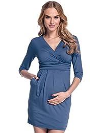 Happy Mama. Mujeres Maternidad Jersey Tulipán Vestido S-4XL 236p
