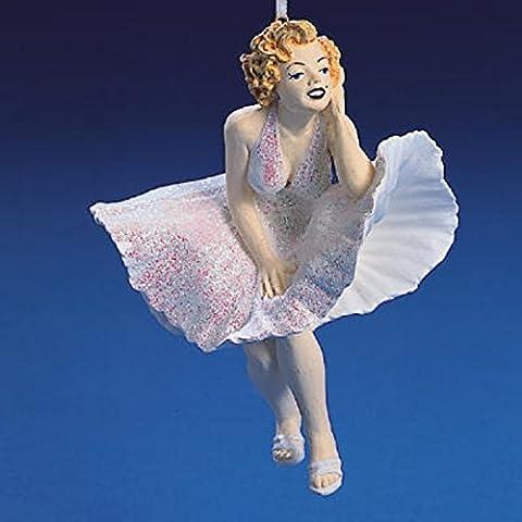 Kurt Adler Sexy Marilyn Monroe in weiß Glitzer Kleid Weihnachten Ornament # j3912