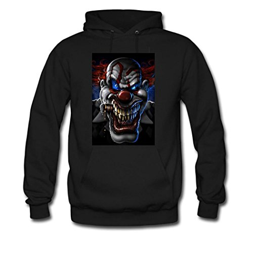 HGLee Printed Personalized Custom Clown Classic Women Hoodie Hooded Sweatshirt Black--1