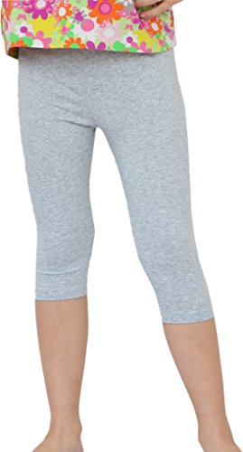 Kinder / Mädchen 3/4 kurz Leggings aus Baumwolle (140, Melange) Baumwolle Baby-leggings