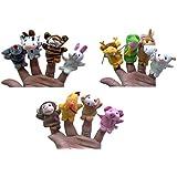 Happy Cherry - Lot de 12 Marionnette à Doigt en Forme D'animaux - Marionnette Différents à Doigt Mignon pour Bébé Enfant