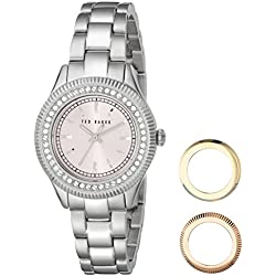 Ted Baker Damen-te6003Bliss Analog Display Japanisches Quartz Silber Uhr