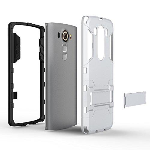 X Power Hülle,EVERGREENBUYING Abnehmbare Hybrid Schein XPOWER Tasche Ultra-dünne Schutzhülle Case Cover mit Ständer Etui für LG X Power (2016 Release) Saphir Silver