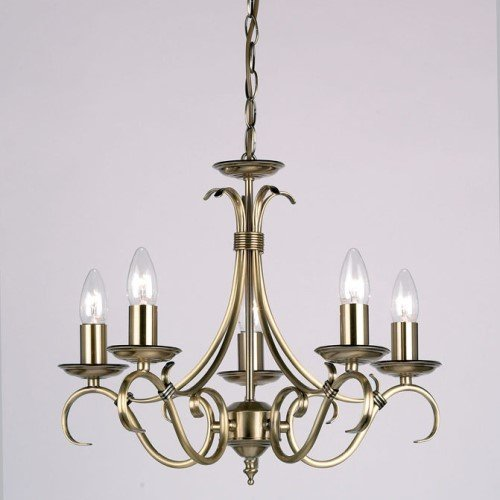 Chandelier in Antique Brass