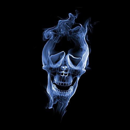Apple iPhone 5s Housse Étui Protection Coque Halloween Crâne Fumée Sac Downflip noir