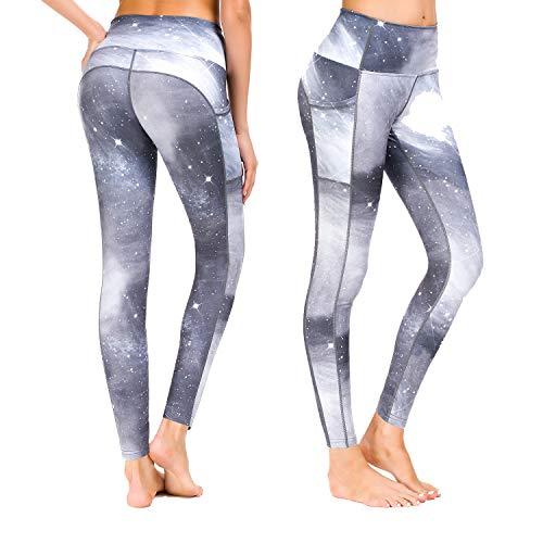 Damen mit Taschen Sporthose Yogahose Tights Fitnesshose Sport Leggings für Damen - Erde/S (DE36-38) ()