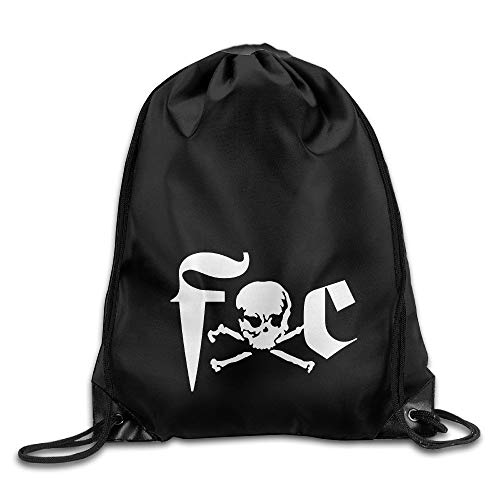 (cleaer Fuck Cancer Skull Drawstring Storage Bag Drawstring Backpack for Men & Women School Travel Backpack)