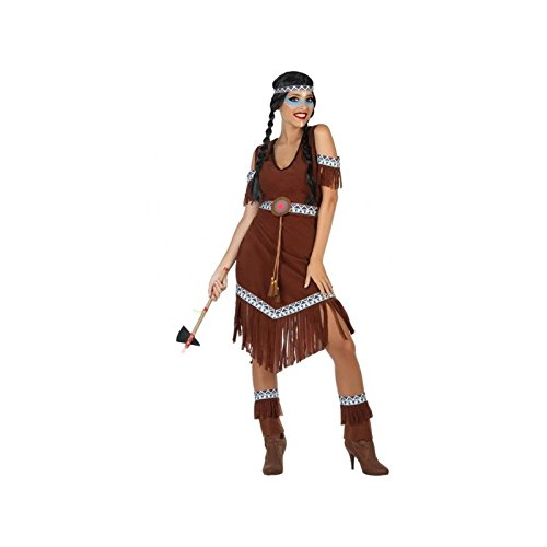 (ATOSA 54078 Indianerin Kostüm für die Dame Costume Indian Woman XL, Braun)
