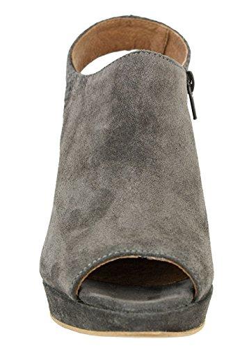 Chaussures à plateforme peep-toe pump gris Gris - Gris