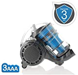 E.ziclean Turbo Eco-Silent - Aspirateur Multi-Cyclonique sans Sac 25 x 40 x 32 cm