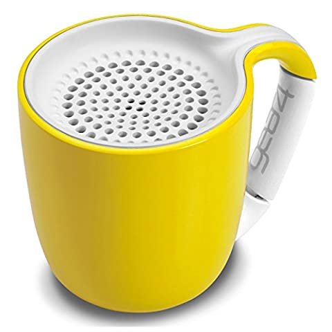 Gear4 Espresso Cup Portable Wireless Universal 3.0 Bluetooth Speaker (Yellow)