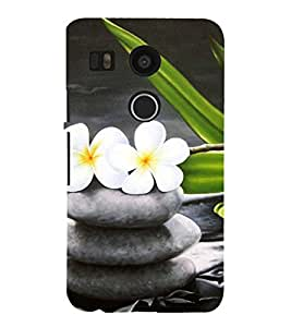 Vizagbeats flowers on stones Back Case Cover for LG Google Nexus 5X::LG Google Nexus 5X (2nd Gen)