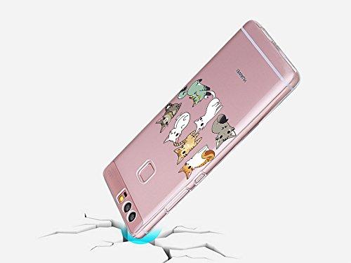 Huawei P9 Case, Teryei® Hybrid Flexible TPU Stoßfänger Apfel Case Persönliche schlanke Kristall Silikon Hülle für Huawei P9 7