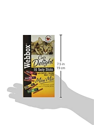 Webbox Delight Cat Mini Sticks Assorted, 16 Sticks, Pack of 10