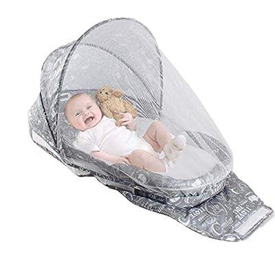 Yukefeng Cuna de Viaje para bebé de la Tienda de campaña portátil para bebé Cama de Viaje con mosquitera y Almohada(75 * 42 * 15 cm)